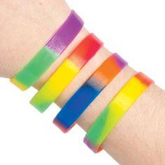Bracelets en Caoutchouc aux Couleurs de l'Arc-en-ciel Parfaits à Glisser dans les Pochettes-surprises pour que les Enfants puissent Jouer…