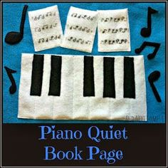 Piano Quiet Book Page {Free Printable Pattern}