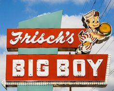 fine art photo of the 'Frisch's Big Boy' sign 1946 ohio kentucky indiana vintage image