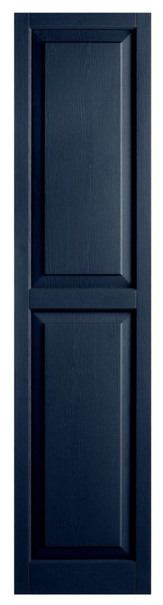 Features:  -Panel shutter.  -Material: Vinyl.  -Captures real wood look without the maintenance.  -Hides scratches to keep its freshly painted look for years.  -Easy mounting on vinyl, wood, stucco, f