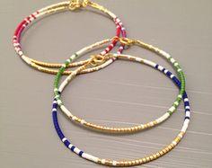 marine thread bracelet friendship bracelet wish bracelet best friend bracelet string bracelet Bracelet Friendship, Friendship Bracelets With Beads, Simple Bracelets, Wish Bracelets, Layered Bracelets, Seed Bead Bracelets, Seed Bead Jewelry, Beaded Jewelry, Dainty Jewelry