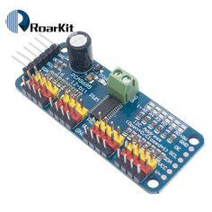 Buy 16 Channel PWM/Servo interface for arduino or Raspberry pi shield module servo shield Arduino, Voltage Regulator, Raspberry, Conditioner, Channel, Circuits, Raspberries