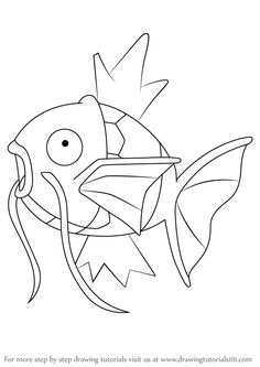 How to Draw Magikarp from Pokemon step by step, learn drawing by this tutorial for kids and adults. Pokemon Sketch, Pokemon Pokemon, Pokemon Coloring Sheets, Tattoo Arm Designs, Cricut Design Studio, Cute Animal Photos, Drawing Base, Step By Step Drawing, Cartoons
