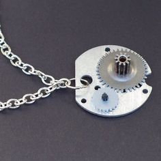 Gear+Choker+Necklace+Silver+Clock+Gears+Necklace+by+Tanith+on+Etsy