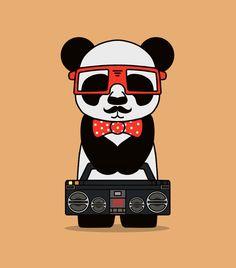 Hipster Panda! >> http://creattica.com/vector/hipster-x-panda/91521