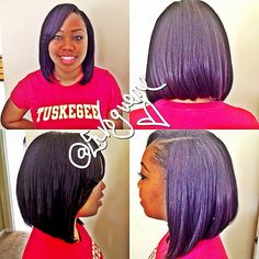 BOB CUT, side band sew in. | Flickr - Photo Sharing!