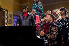 Inspired by their favorite sitcoms, John Legend and Chrissy Teigen host a holiday special featuring famous friends and songs off the EGOT winner's Christmas album Chrissy Teigen Style, What Is Christmas, Christmas Albums, Stevie Wonder, John Legend, Music Icon, Celebs, Celebrities, Events
