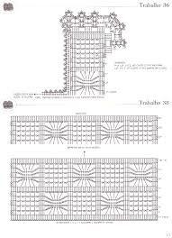 Resultado de imagem para graficos e passo a passo de jogo de banheiro em croche