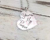 You're My Person Hand Stamped Necklace