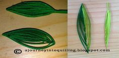 A Journey into Quilling & Paper Crafting: New Quilling Technique Tutorial - Folded Strip Leaves 2 & 3