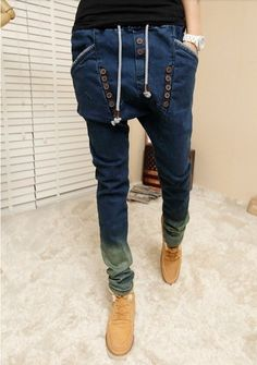 Cheap jean jean, Buy Quality jeans resin directly from China jean shirts for men Suppliers: male HIPHOP Low Drop crotch pants men denim Jeans Harem hip hop pants men baggy pants Stretch trousers loose pantalon Drop Crotch Pants Men, Baggy Trousers, Harem Pants, Mens Fashion Suits, Denim Fashion, Fashion Pants, Mens Joggers, Denim Jeans Men, Look Cool