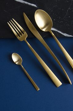 Cutipol Brushed Gold Cutlery