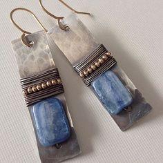 Kyanite earrings with silver | Flickr - Photo Sharing! Earrings by Aniko Sandor