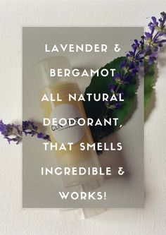 Lavender, Bergamot & Tea Tree - Natural Deodorant Antiperspirant Stick - Aluminum Free - Organic Deodorant - Baking Soda Free - Paraben Free