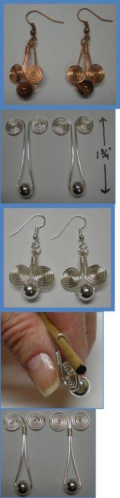 Earrings pattern - Egyptian coil.  #Wire #Jewelry #Tutorials