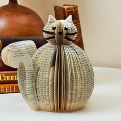 Book Art Cat, A must for any Cat Fan!  Available from http://www.creatoncraftsandgifts.co.uk/shop/book-art/book-art-cat/