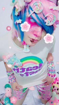 I am SO gay right now Pastel Goth Makeup, Pastel Goth Fashion, Kawaii Fashion, Colorful Fashion, Cute Fashion, Harajuku Fashion, Kawaii Makeup, Cute Makeup, Candy Gore