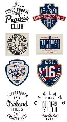 Vintage Graphic Design Headwear Graphics 2014 - Golf on Behance - Typography Logo, Typography Design, Branding Design, Compagnie Logo, Inspiration Logo Design, Inka, Badge Logo, Retro Logos, Badge Design