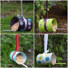 DIY Bird Feeders from Tin Cans