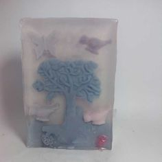 Melt and pour soap art with lavender fragrances oil.  I love to create stories with my soaps!