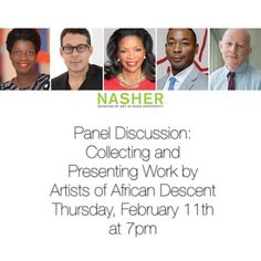 """Join Jack at the Nasher Museum of Art for a lively conversation on collecting and presenting work by artists of African descent with New York Times art critic Holland Cotter Studio Museum in Harlem Director Thelma Golden San Francisco art collector Pamela Joyner and Pérez Art Museum (Miami) Director Franklin Sirmans. The panel will be moderated by Richard J. Powell John Spencer Bassett Professor of Art and Art History at Duke and curator of the traveling exhibition """"Archibald Motley: Jazz…"""