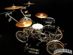 custom drums   Custom Tricycle Drum Kit - Have Band Will Travel Photo Gallery