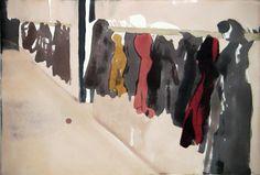Mamma Andersson - CORRIDOR, 2007 Mixed media on paper, 54x79 cm