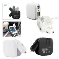 This 2-in-1 charger for phones combines 2 piece design of a power charger and a travel charger within one item. It allows users to charge their iPhone, tablet, and tablet via USB car charger adapter or wall plug. The dual USB port helps user to charge two devices at the same time. Customized printed logo can be made on the generous back side giving the brand exposure. It's an ideal giveaway for sale meetings and trade shows. Minimum order quantity 1000 units for PMS matching.
