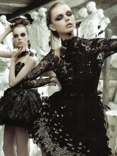 Feathers, lace, sequins, oh my! -- Dress by John Galliano