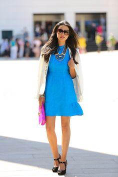 #fashion #fashionista Annabelle bianco azzurro VIVALUXURY: NANETTE LEPORE SS13 SHOW
