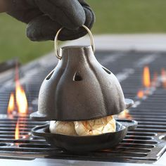 Feel the ethereal taste of roasted garlic melt in your mouth once you have them properly treated with this Cast Iron Garlic Roaster.