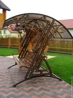 Купить или заказать Кованые скамьи с навесом в интернет-магазине на Ярмарке…