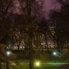 Mine Bilder | stensethphoto Slottsparken is such a lovely place, even at night. Every time I see a nice, old man wondering around there, I look to see if it is the King who takes a stroll in garden, philosophing about some issue.