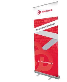 Roll up banner ontwerp en productie voor Matchbank