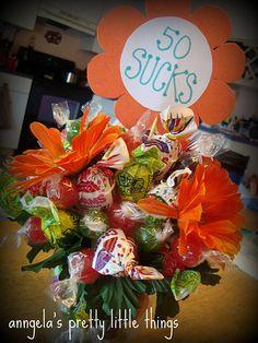 50 sucks bouquet gift