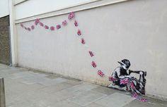 Banksy 'Bunting' Mural – London