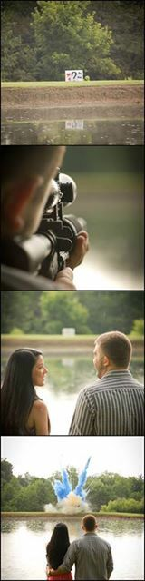 Tannerite gender reveal! Photo credit to Erin Michels Photography