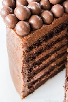 Chocolate Mousse Layer Cake