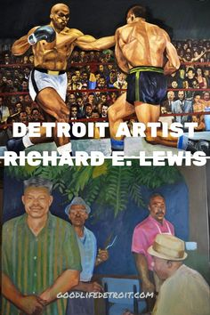 """Detroit painter Richard Lewis' solo art exhibition is now open. """"Works In Progress"""" officially opened on Friday, August 13th at the Galerie Camille. The art exhibit will be open until September 11, 2021. It features a collection of family stories and Richard's favorite movie scenes. Detroit Art, Museum Of Contemporary Art, Black Art, Home Art, It Works, Art Gallery, September 11, Exhibit, Artist"""