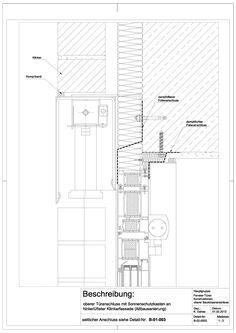 Holzrahmenbau wandaufbau detail  Bahnsteigüberdachung HBF, Kassel Neubau, Dach Construction detail ...