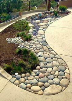 35 lovely rock garden landscaping ideas not every landscape is perfect and having a rock garden can help in many of those areas you might have an area that is just too shaded and you can t gorgeous front yard landscaping ideas 23023 Backyard Garden Landscape, Garden Paths, Garden Art, Garden Beds, Fence Garden, Garden Borders, Gravel Garden, Landscape Bricks, Landscape Fountains