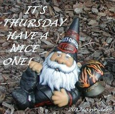 Thursday Biker Gnomes Harley Davison Gnome Garden Art Statues