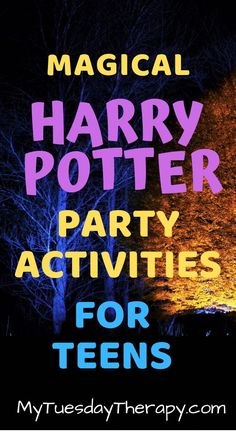 Creative Ideas for Harry Potter Themed Party Harry Potter Party Activities For Teens. Harry Potter party ideas for teen birthday party. Harry Potter party decorations that are quite cool. Harry Potter Party Games, Harry Potter Party Decorations, Harry Potter Halloween Party, Birthday Party Decorations Diy, Easy Party Games, Birthday Party Games For Kids, Birthday Party Themes, Teen Birthday, Themed Parties