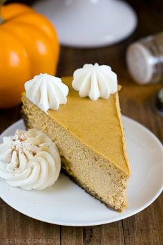 This thick, rich and creamy pumpkin pie cheesecake with gingersnap crust is a fall favorite! Perfect for special occasions and holidays!