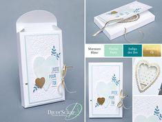"""Stampin'Up! by Djudi'Scrap - Tutoriel Carte Boîte Chocolats """"Framelits Toute une boîte d'amour / Lots to love box Framelits dies"""""""