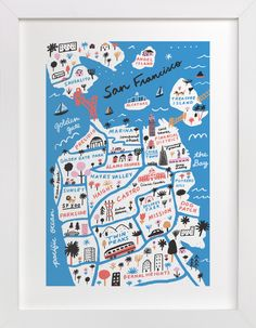 """""""I Love San Francisco"""" - Art Print by Jordan Sondler in beautiful frame options and a variety of sizes."""