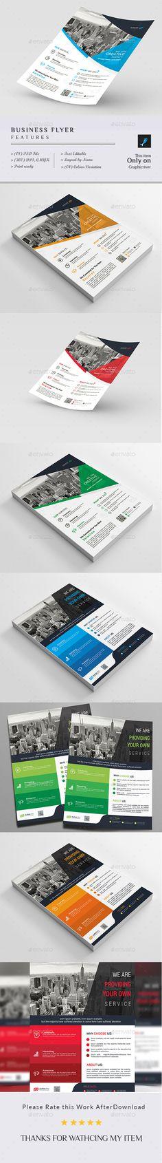 Creative Business Flyer Templates PSD Bundle