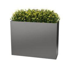 Planters Perfect - Rectangle High Aluminum Planter (Color - Pewter)  #metalplanter #metal #rectangular #rectangle #planter #planters