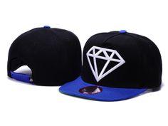Diamond Supply Co. Rock Snapback Casquettes - noir,bleu,blanc