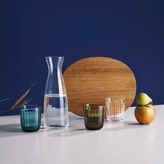 Raami Tumbler in Various Colors design by Jasper Morrisoni for Iittala Scandinavian Wedding, Scandinavian Design, Wedding Gift Registry, Wedding Gifts, Oak Color, Everyday Objects, Sustainable Design, Carafe, Tumblers
